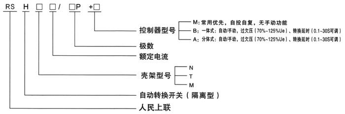 rsh系列双电源自动切换开关_人民上联电气股份有限_式